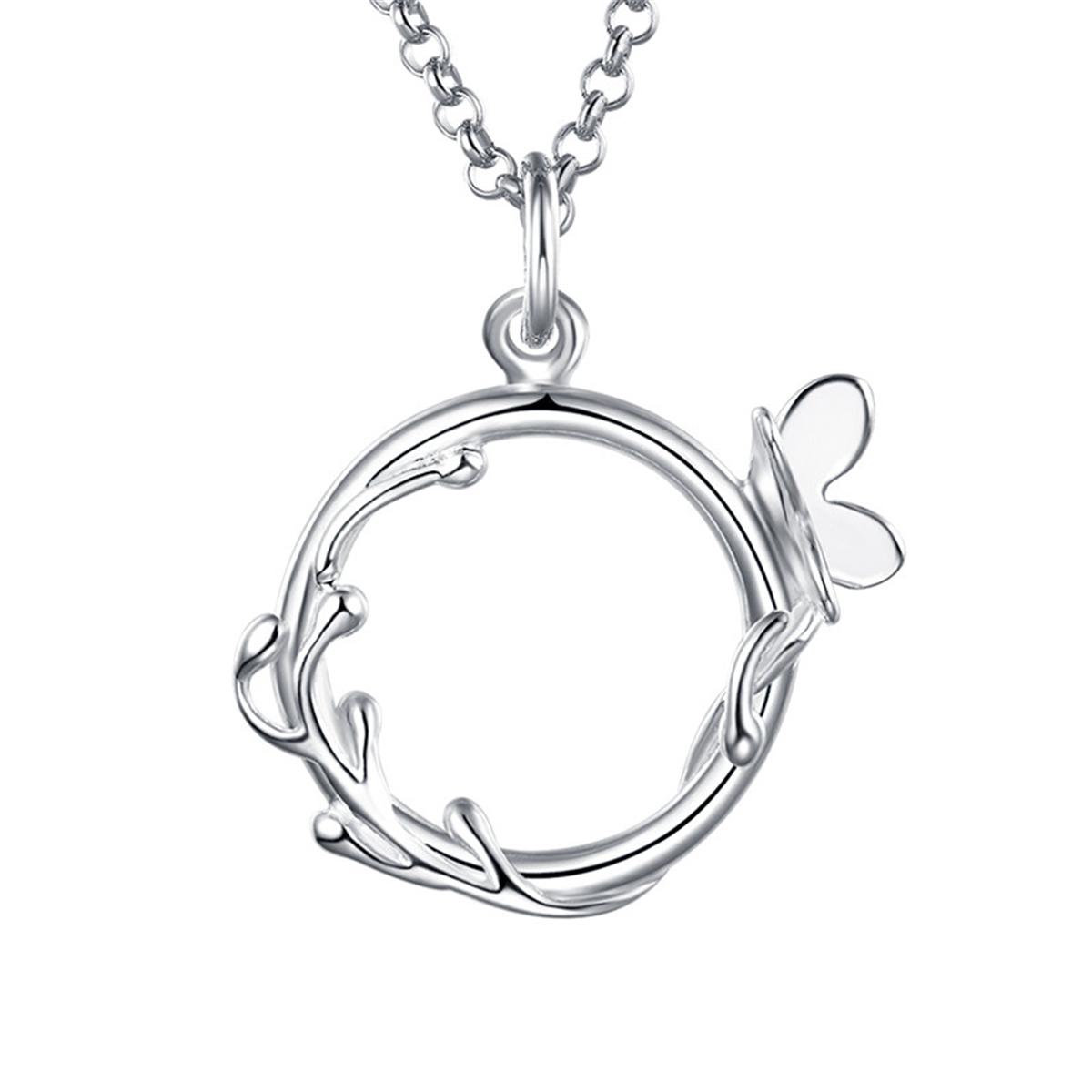 """Lily Charmed """"有你生命才精彩""""蝴蝶花环戒指 手工打造 40cm 925银项链(英国品牌  正品授权)"""