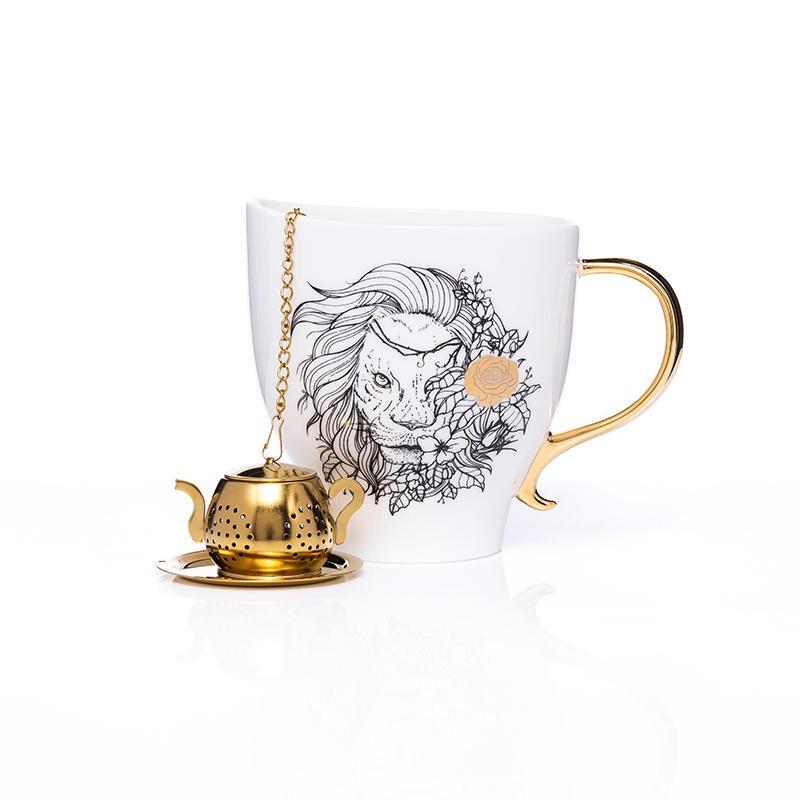 【尖叫设计礼盒】生活罗曼史马克杯 随手礼物 带茶漏