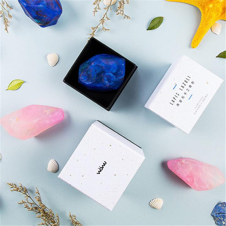 【哇物】手工天然精油皂 粉晶/青金石 礼物