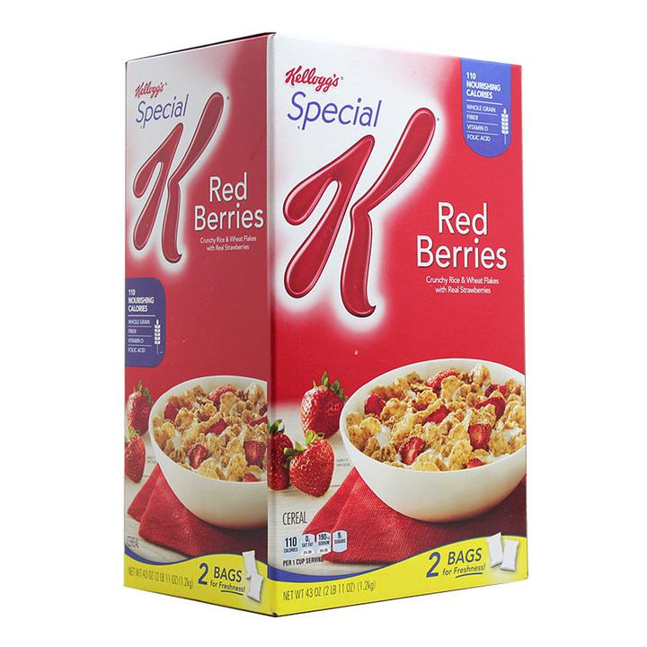 【量大饱腹感强】 家乐氏special K香脆草莓麦片低脂1200g