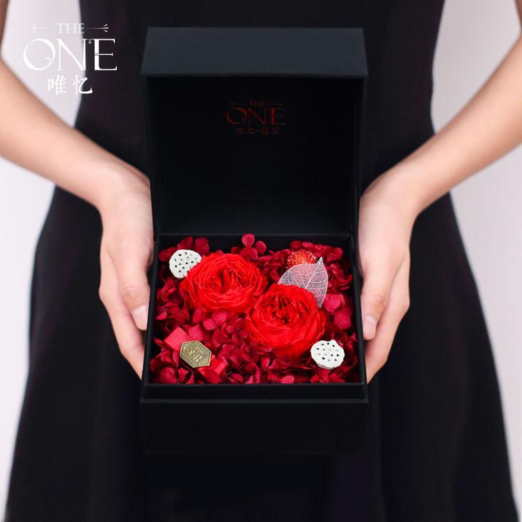 进口永生奥斯汀玫瑰,七夕爱礼 | 红玫瑰的永生花,被偏爱的都是今生挚爱