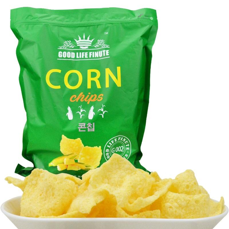 韩国进口趣莱福玉米片休闲零食大包装336g