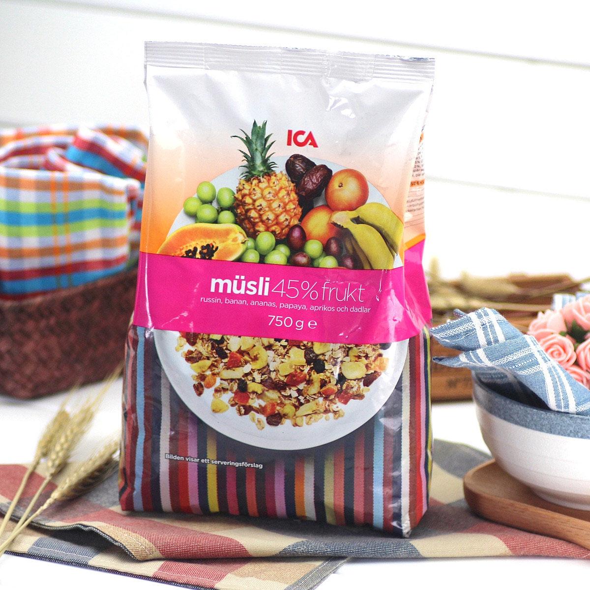 ICA瑞典进口早餐即食冲饮谷物燕麦片 4种口味