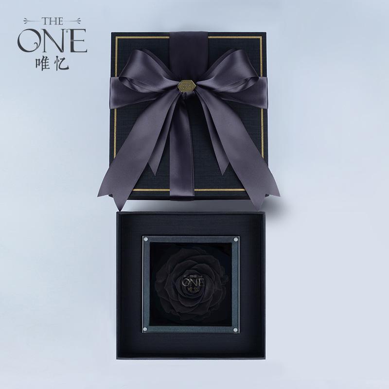 THEONE唯忆 水晶唯一 进口巨型红玫瑰永生花礼盒表白求婚礼物