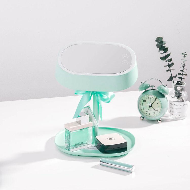 """发光梳妆镜充电送女友,多功能""""化妆镜"""",送她365天的美腻"""