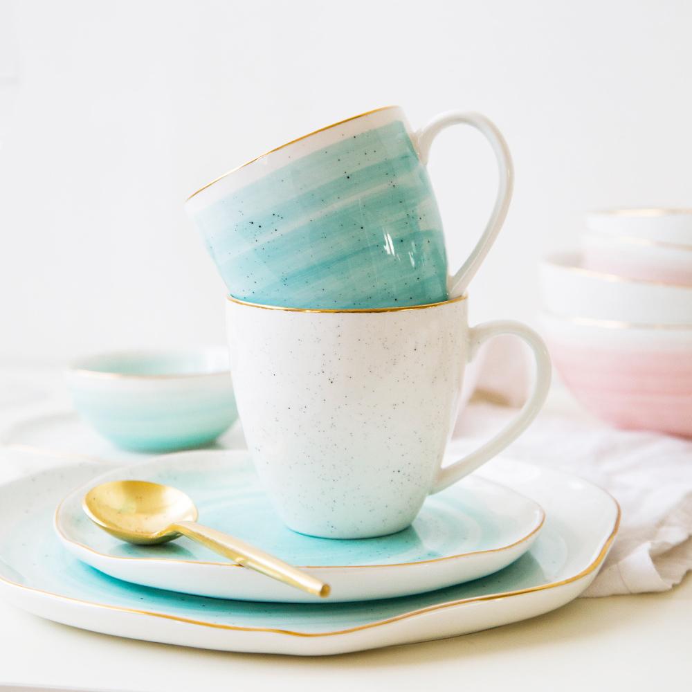摩登主妇欧式创意金边系列陶瓷马克杯牛奶杯情侣水杯花茶杯牛奶杯