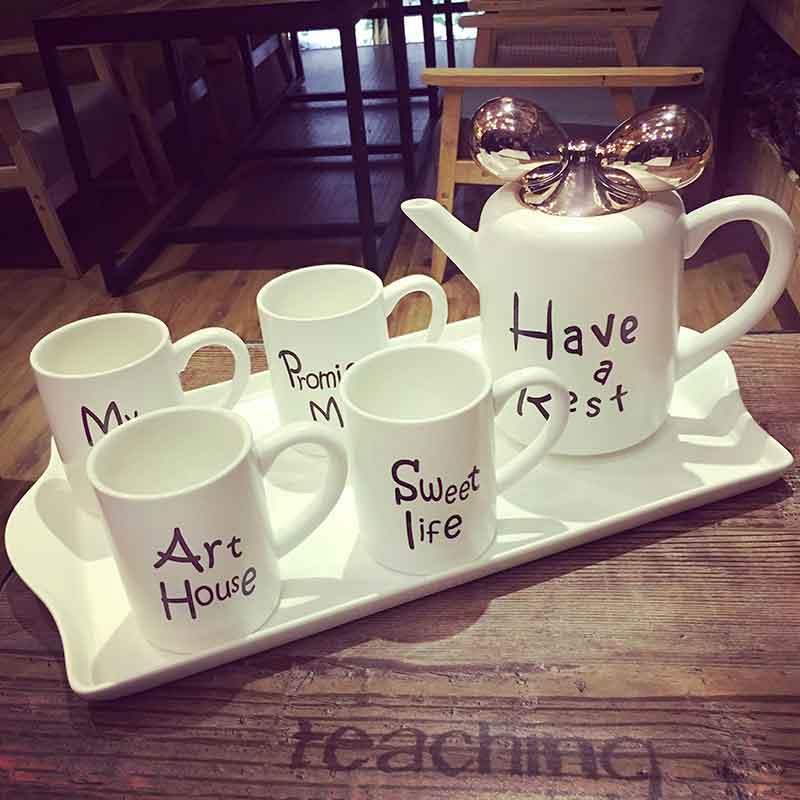高颜值套装简约下午花茶茶具创意家用陶瓷水杯具