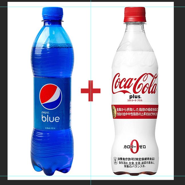 巴厘岛百事可乐蓝色可乐+日本可口可乐plus零脂可乐(2瓶装)