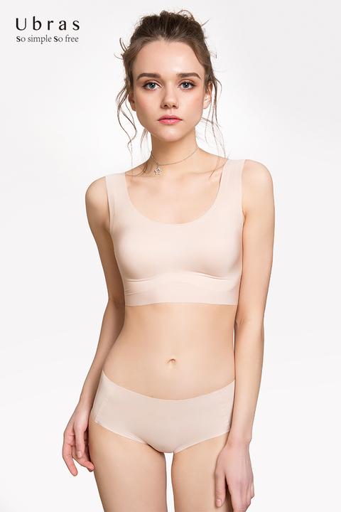 【全网最低】Ubras旗舰店 轻运动薄内衣女运动文胸罩无钢圈舒适无痕内衣