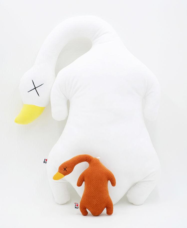 白富美套餐盐水鸭烤鸭靠垫抱枕
