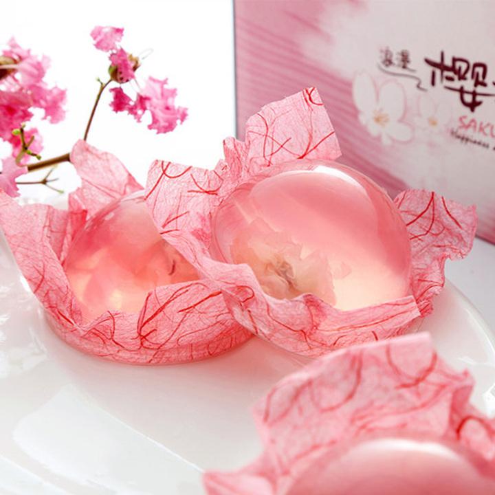 日式樱花果冻布丁水信玄饼3枚盒装