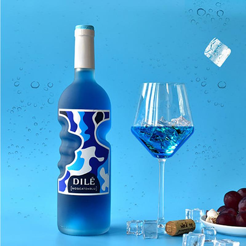 意大利DILE天使之手蓝精灵蓝色莫斯卡托起泡酒750ml