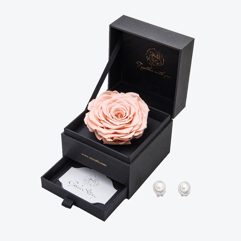 GELEISTORY阿佛洛狄忒香槟色永生花礼盒生日礼物