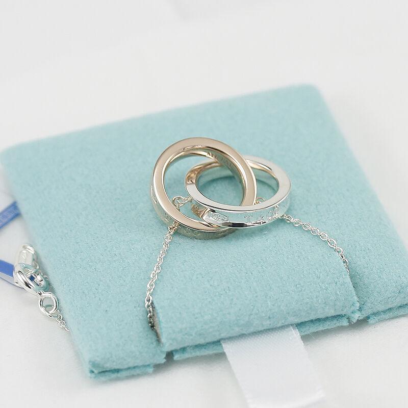 蒂芙尼(Tiffany & Co.)1837系列经典双环扣吊坠项链 情人生日礼物 锁骨链 双环系列35672095