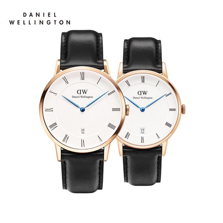 支持验货DanielWellington正品丹尼尔惠灵顿男女士皮带石英表情侣表dw手表