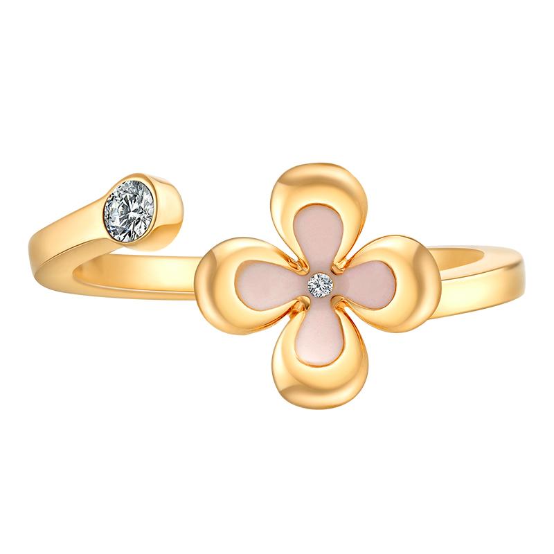 U Jewelry/优集中秋系列桂花镶钻戒指