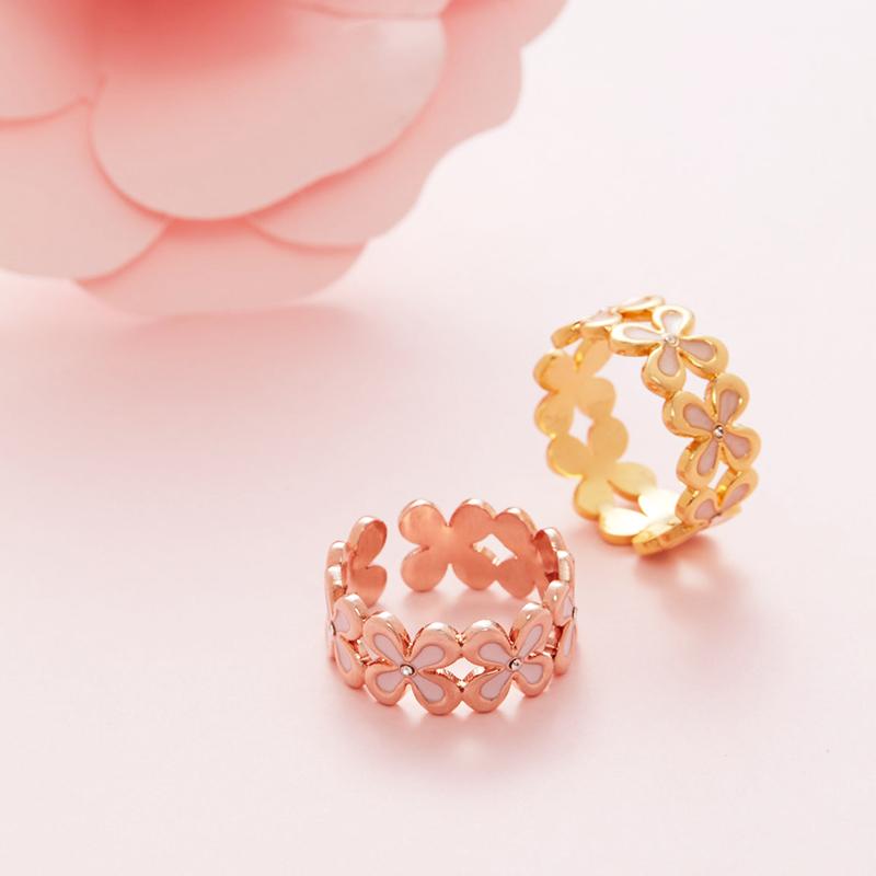 U Jewelry优集 中秋桂花锦上添花镂空戒指