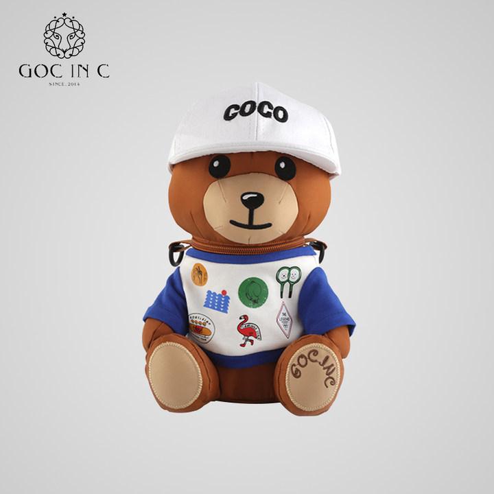 goc in c&onion合作款儿童小熊保温杯带吸管不锈钢学生水壶