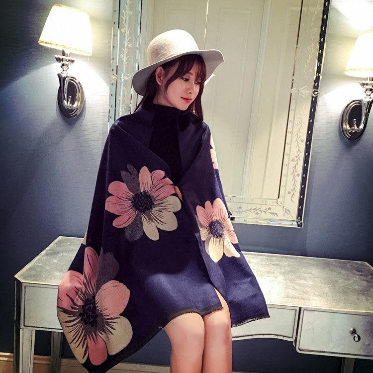 韩版百搭仿羊绒围巾,天冷了,好看百搭女式围巾来一打!