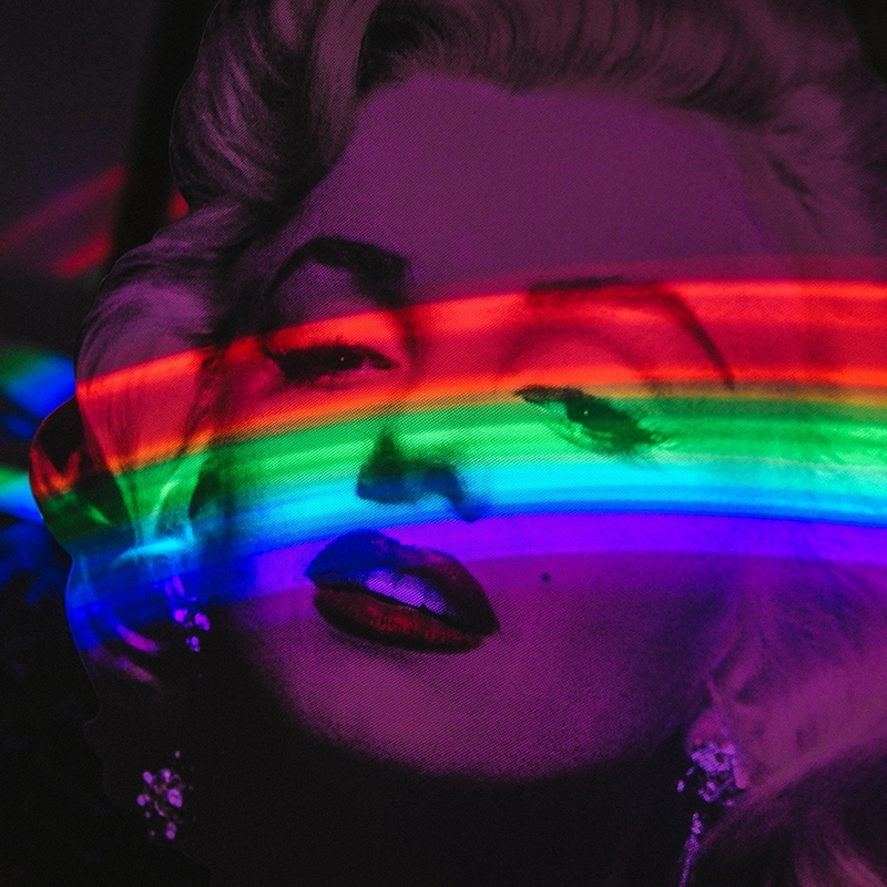 玩意生活 彩虹制造机 浪漫少女心彩虹投影夜灯 彩虹自拍灯ins彩虹