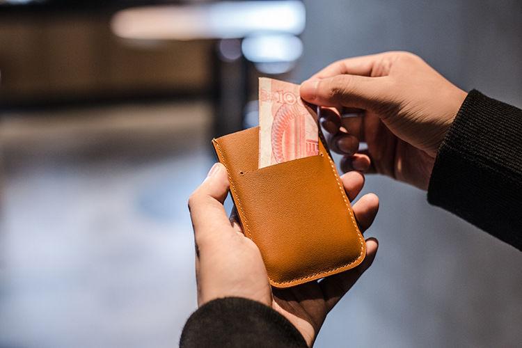 一女多男抽�_【DAX皮质层叠抽拉卡包男士迷你多卡位名片银行卡套简约女士零