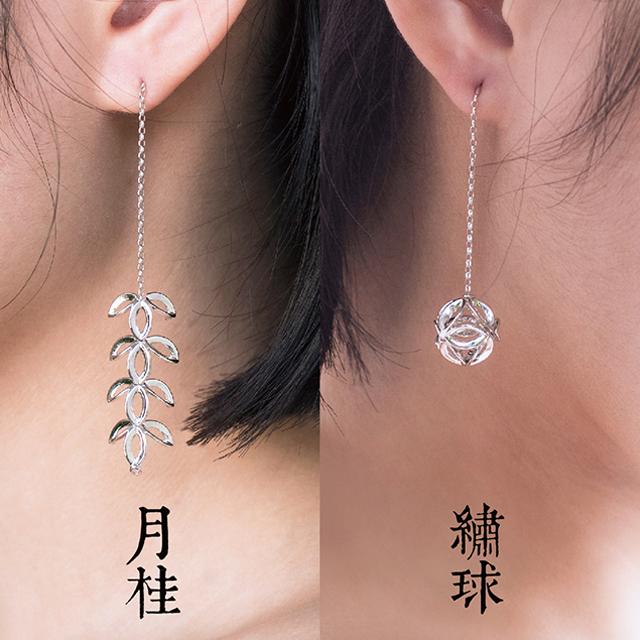 月桂绣球耳环