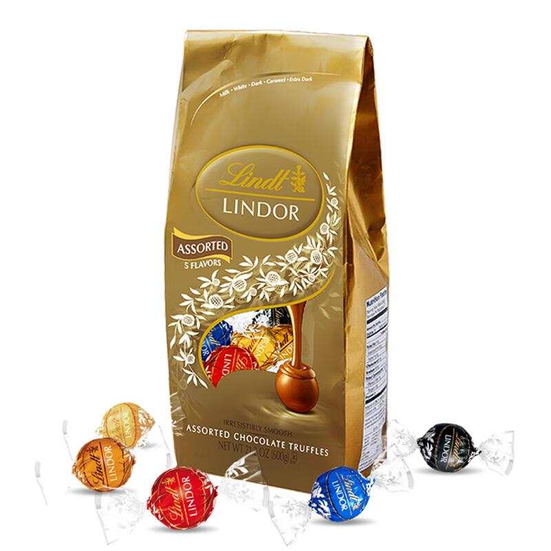 美国 Lindt 瑞士莲 软心精选巧克力分享装 600g