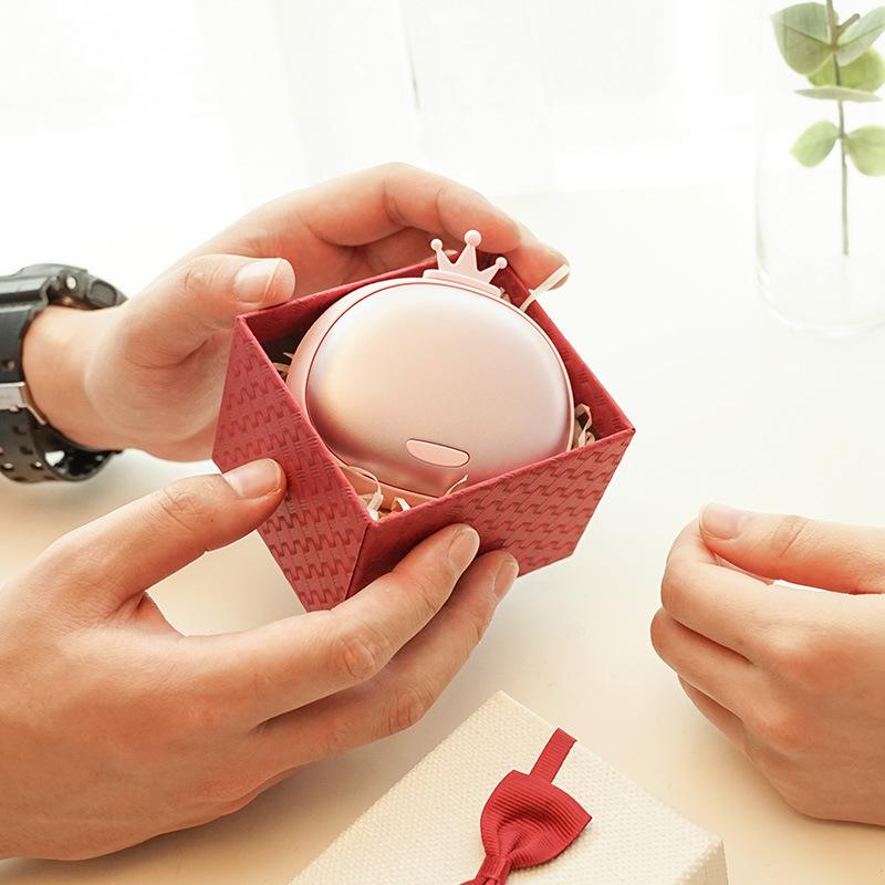 国王与皇后暖手宝USB迷你充电暖手宝暖手宝移动电源暖宝宝浪漫套