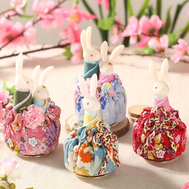【情人节礼物】和风兔子音乐盒 创意 新奇情侣闺蜜 实用生日礼物送贺卡