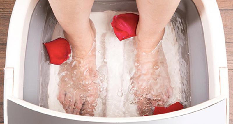 可折叠的泡脚盆,舒服又方便,冬季必备!