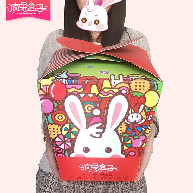 疯兔盒子进口零食大福袋 自己囤粮送人两不误