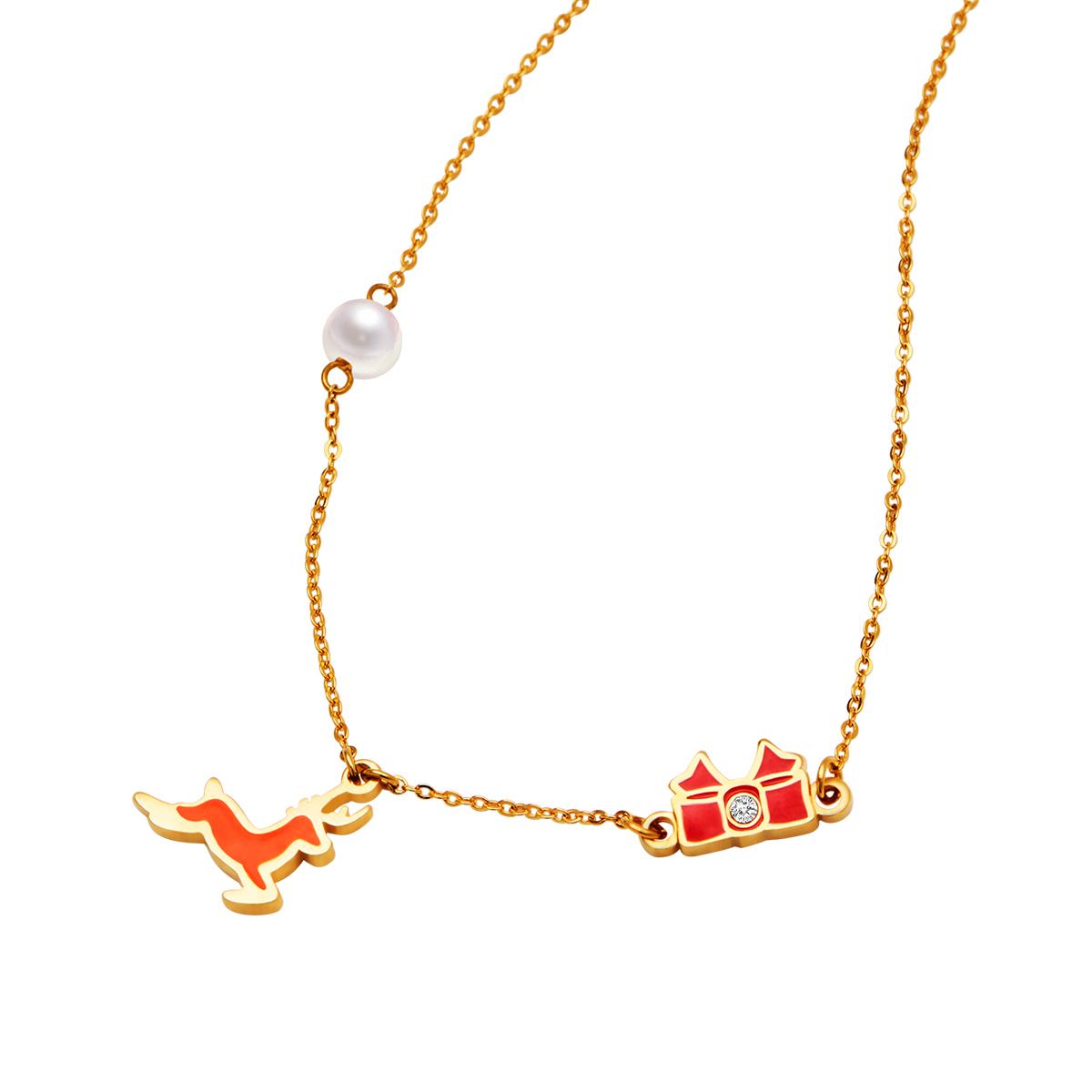 U Jewelry优集 快乐小鹿锁骨链