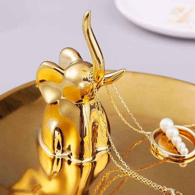 福运小象首饰盘 生日 圣诞礼物