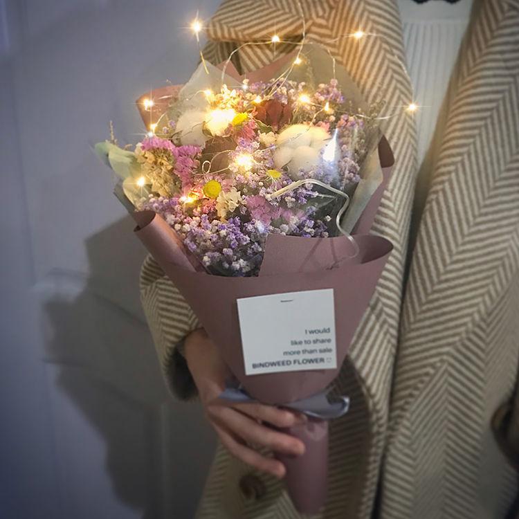 干花花束礼盒棉花,来束干花!把2017年买鲜花烧过的银子赚回来
