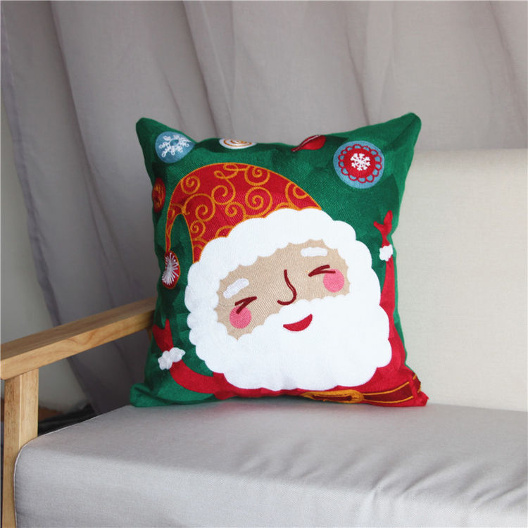 """圣诞毛巾绣抱枕,居家圣诞气氛很简单,这里一""""件""""帮你解决?!"""