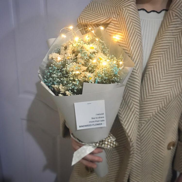 干花花束真花小雏菊,来束干花!把2017年买鲜花烧过的银子赚回来