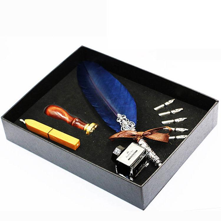 欧式复古羽毛蘸水钢笔,无限创意的礼物,给你不一样的惊喜
