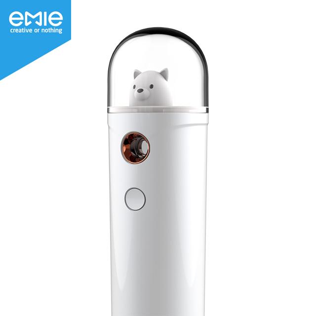 亿觅(emie) 暖冬系列萨摩白移动电源/补水仪/迷你充电宝 纳米喷雾器 补水加湿