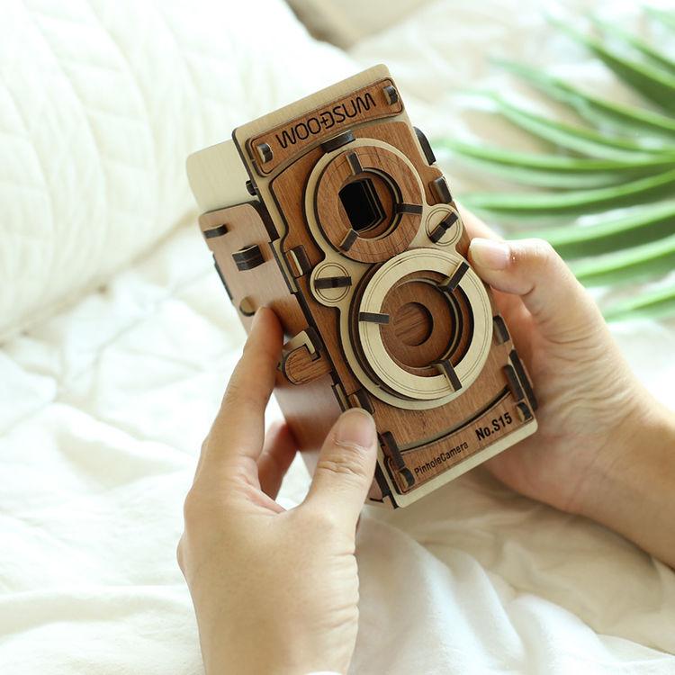 韩国WOODSUM木质拼装胶卷相机 情人节礼物