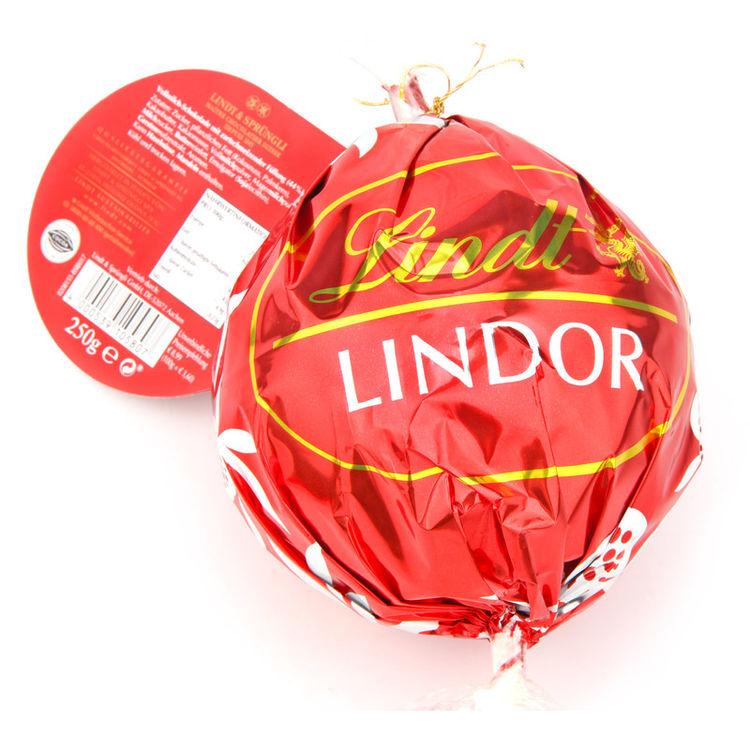 美国Lindt瑞士莲牛奶软心巧克力球大球250g
