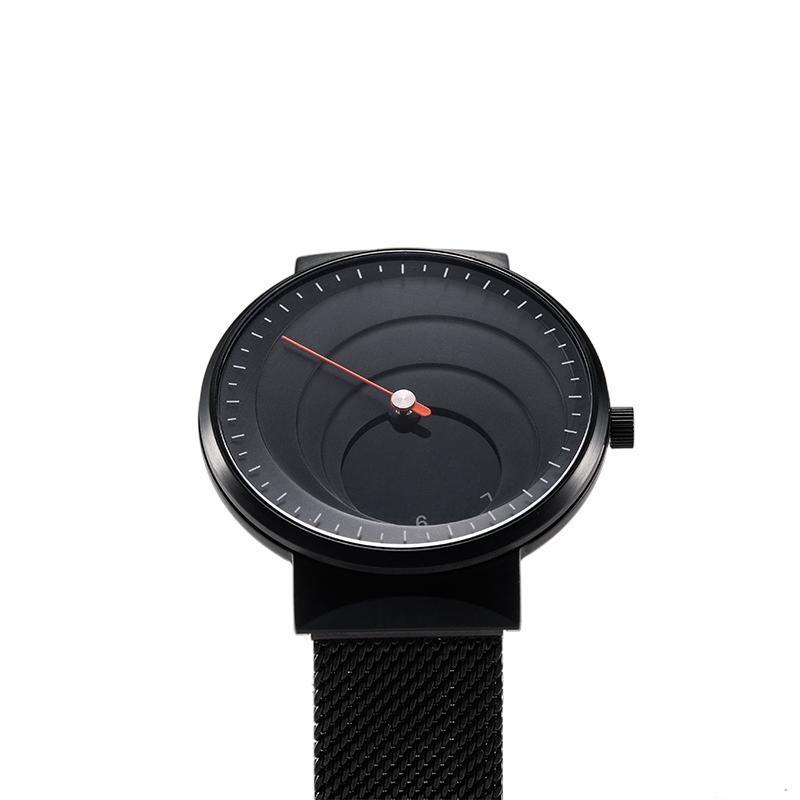 顺丰发货至13号【礼盒装可定制】太空虫洞时计黑白款情侣单针石英手表