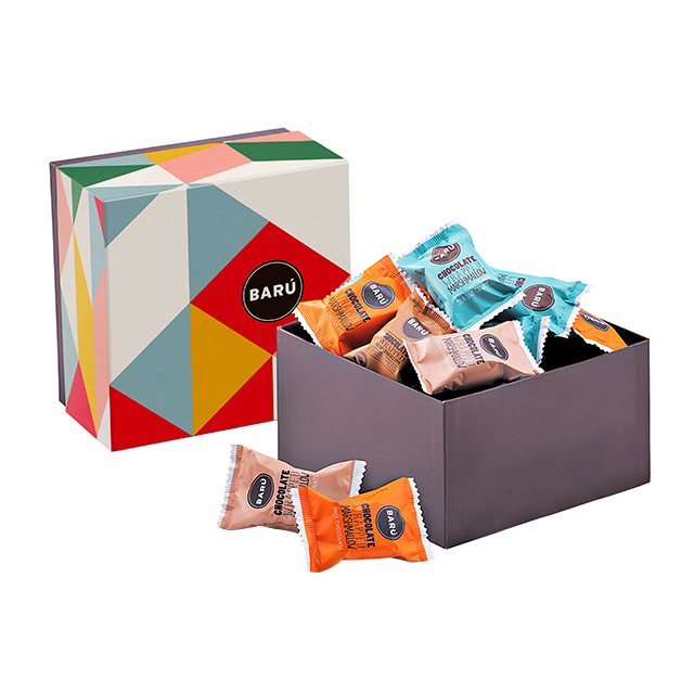 比利时芭露Baru巧克力涂层什锦口味棉花糖糖果礼盒166.5g(12块装)