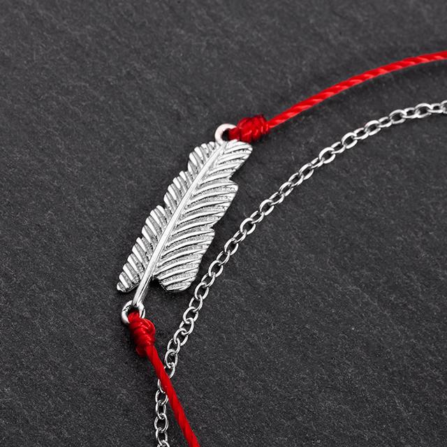 心意独家「羽毛」好运红绳