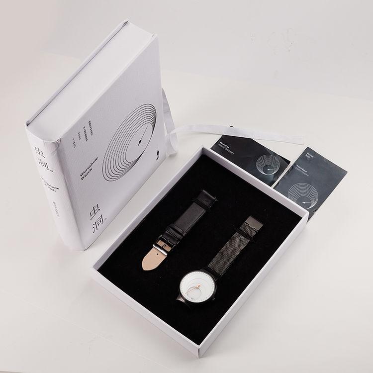 黑白色情侣款可定制,超棒礼物!虫洞概念限量版定制腕表