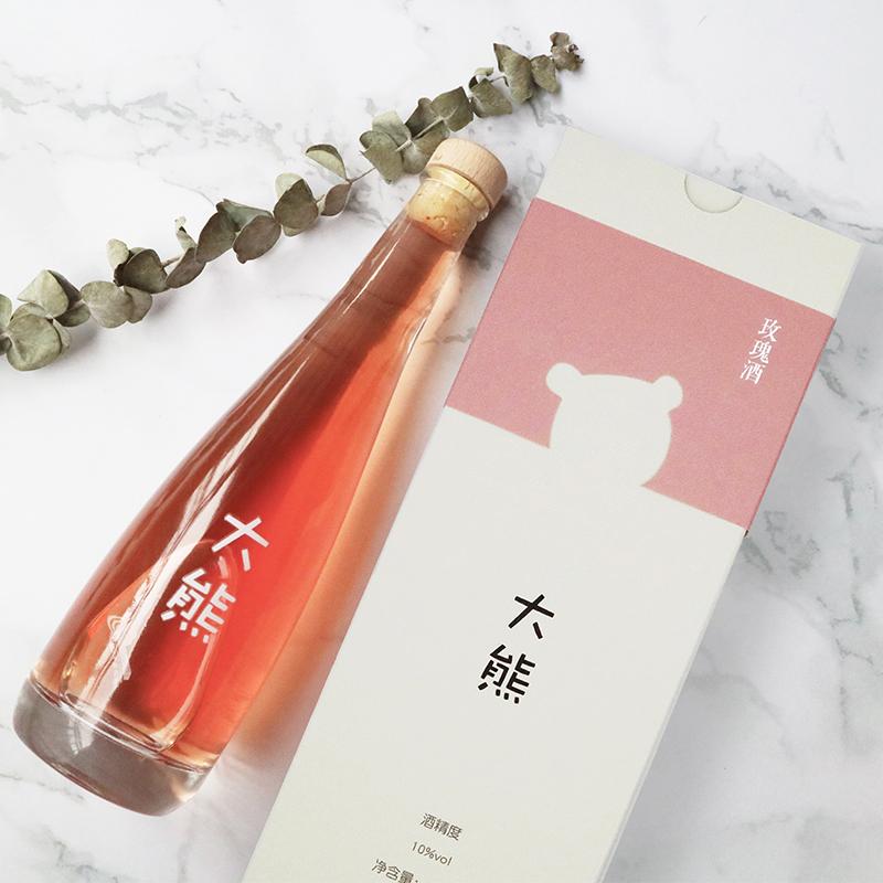 【所以的酒都不如你】大熊玫瑰酒高颜值花果酒 礼物酒生日酒表白酒 10度