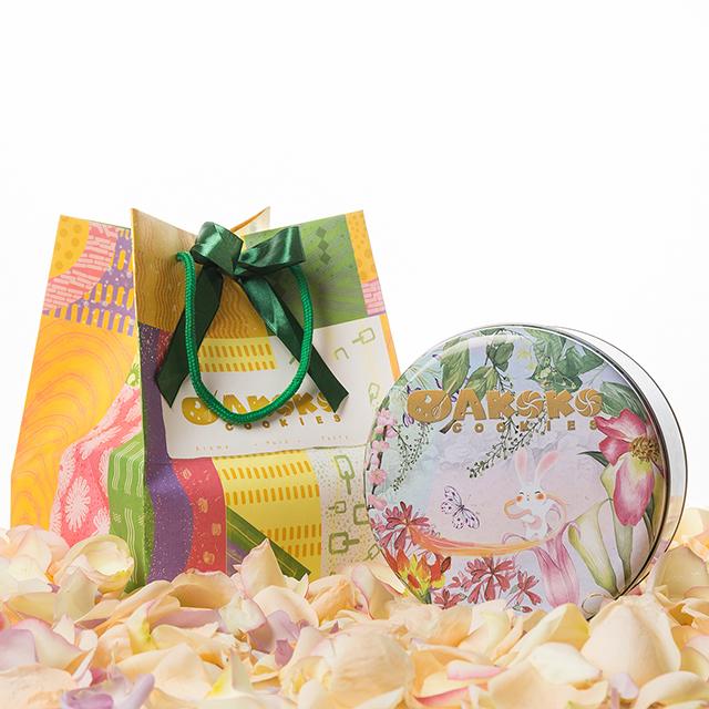 AKOKO 原味、抹茶、咖啡三拼口味  春日花甜兔款