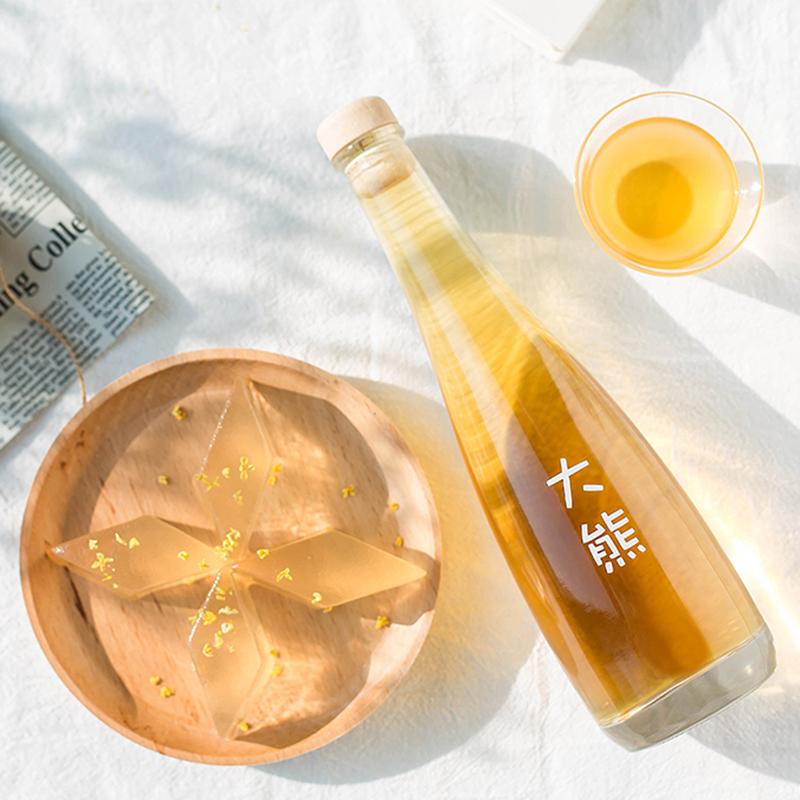 【高颜值】大熊桂花酒 桂花酿糯米酒自酿10度颜值女士甜酒花果酒高颜值礼盒