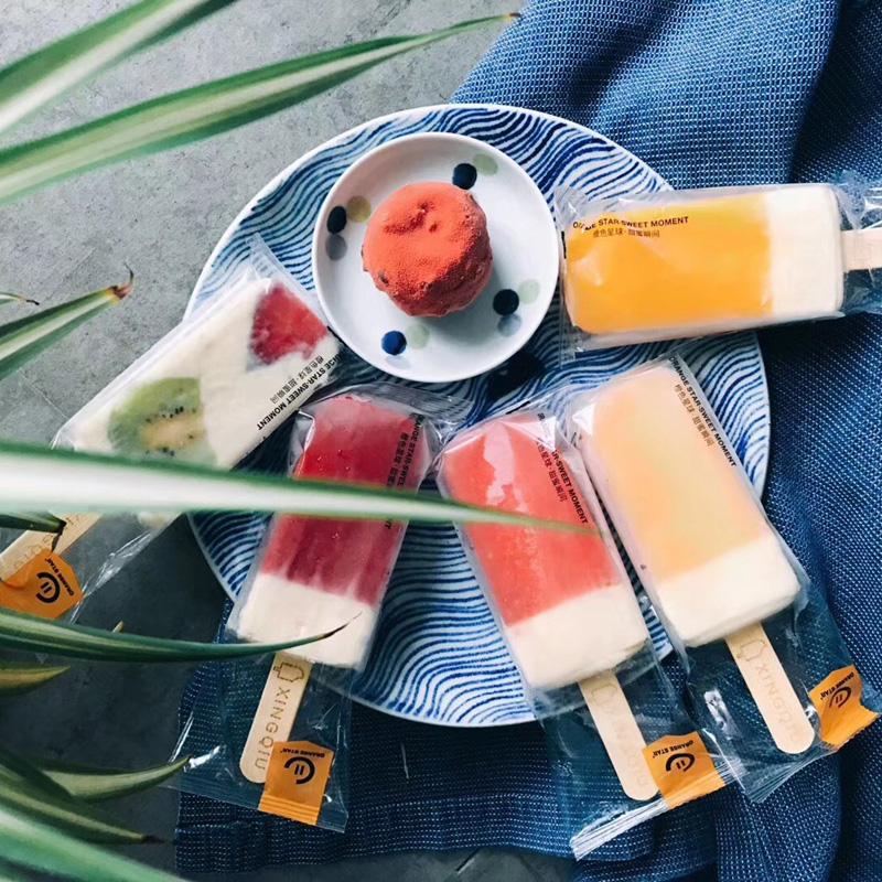 橙色星球猩球金箍棒水果芝士雪糕冰淇淋棒冰