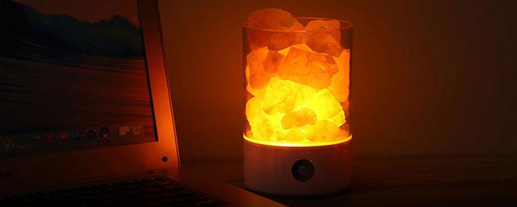 纯天然净化空气、净化心灵的养生盐灯