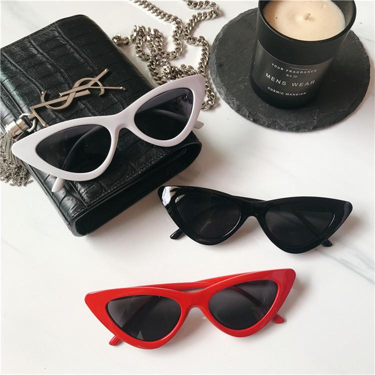 包邮 欧美街拍封帆复古三角猫眼墨镜太阳镜ins网红同款眼镜男女潮